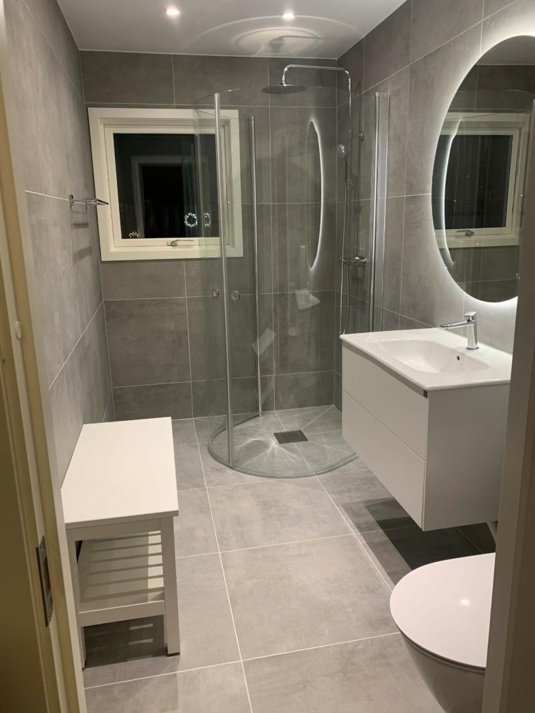 Badrumsrenovering utförd av Finisa AB